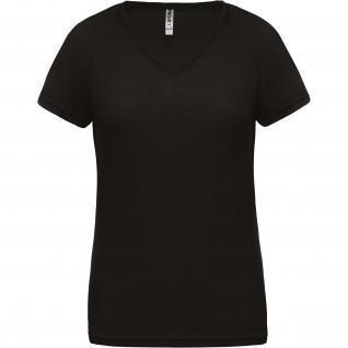 T-Shirt donna Collo V Proact Sport [Dimensione M]